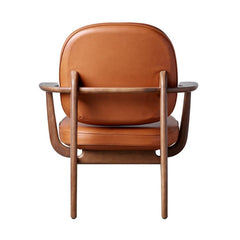 Fritz Hansen JH97 Lounge Chair Elegance Walnut Leather Back