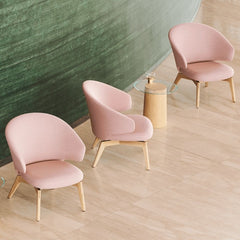 Fritz Hansen Let Chairs by Sebastian Herkner in Lobby with Stub Side Table Detail