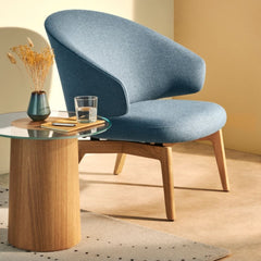 Fritz Hansen Let Chair by Sebastian Herkner with Stub Side Table