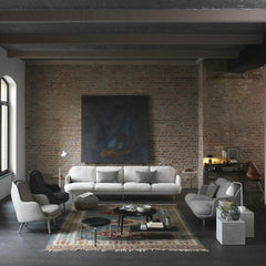 Fritz Hansen Lune Sofa Collection by Jaime Hayon in Room with Fri Chairs