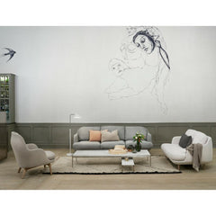 Fritz Hansen Lune Sofas by Jaime Hayon in artistic room with Fri Chair