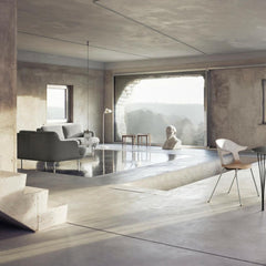 Fritz Hansen Lune Sofa by Jaime Hayon in Room with Pair Chair