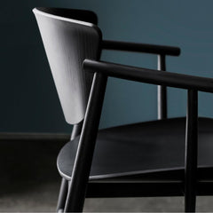 Fritz Hansen Nendo Chair in Black Oak Side View Detail