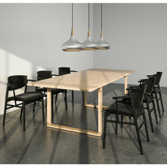 Fritz Hansen Nendo N01 Chairs in Conference Room with Cecilie Manz Essay Table