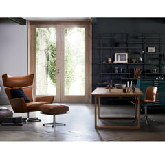 Fritz Hansen Oksen Chair by Arne Jacobsen in Room with Cecilie Manz Essay Table and Poul Kjaerholm Chair