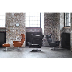 Fritz Hansen Oksen Chairs by Arne Jacobsen in Brick Loft