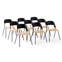 Fritz Hansen PAIR chair by Benjamin Hubert Black and Oak Classroom Style Seating