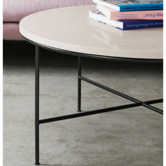 Fritz Hansen Paul McCobb Planner Coffee Table Round Cream Marble Detail