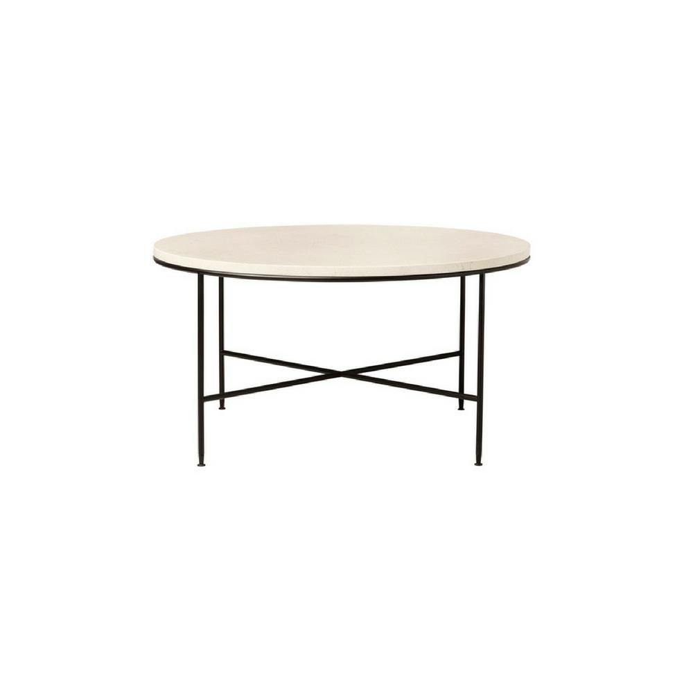 Incroyable Paul McCobb Planner Coffee Table Round Cream Marble