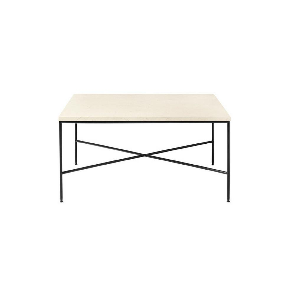 Fritz Hansen Paul McCobb Planner Coffee Table Square Cream Marble