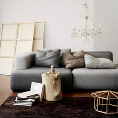 Fritz Hansen Piero Lissoni Alphabet Sofa in Situ with Chandelier