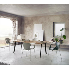 Fritz Hansen Pluralis Table with Black Legs with Nap Chairs by Kasper Salto