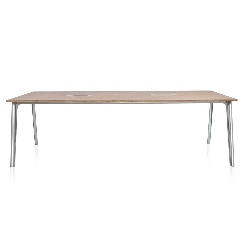 Fritz Hansen Pluralis Table with Polished Aluminum Base designed by Kasper Salto