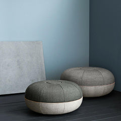 Fritz Hansen Pouf by Cecilie Manz Large and Small in Room