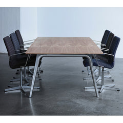 Fritz Hansen Premium Oxford Chairs in Conference Room with Pluralis Table by Kasper Salto