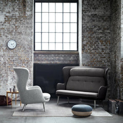 Fritz Hansen Ro Chair and Ro Sofa in Loft with Cecilie Manz Pouf