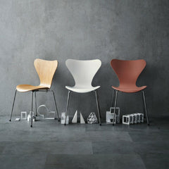 Fritz Hansen Series 7 Chairs in Room Arne Jacobsen