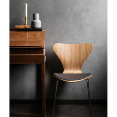 Fritz Hansen Series 7 Seatpad on Chair Styled in Room