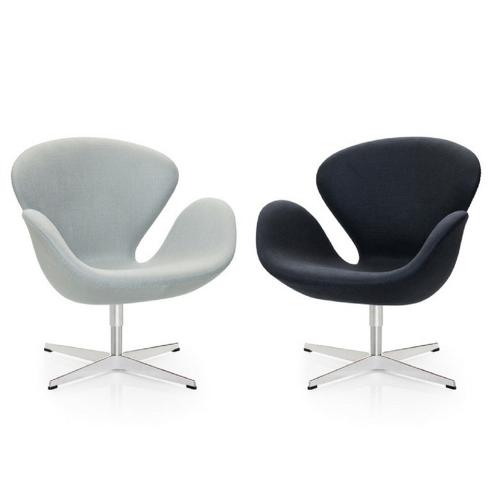 Exceptionnel Fritz Hansen Swan Chairs In Light Grey Wool And Black Ultrasuede