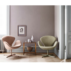 Fritz Hansen Swan Chairs Rose and Grass in Room