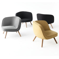 Fritz Hansen Via 57 Chairs Grey and Yellow Styled