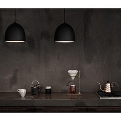 Fritz Hansen Gam Fratesi Suspence Pendants Black in Nordic Kitchen