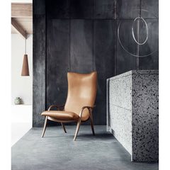 Frits Henningsen Signature Chair Caramel Leather in Room Carl Hansen and Son