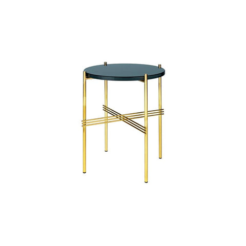 GUBI TS 40 Side Table - Brass Base - by Gam Fratesi