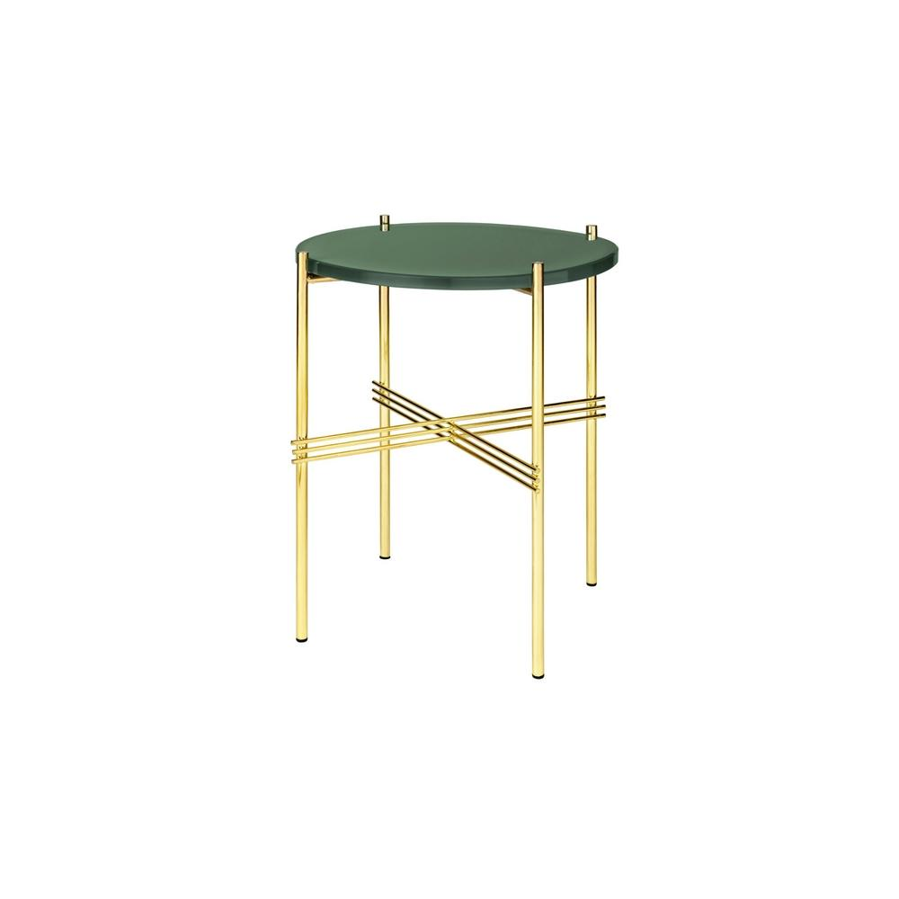 GUBI TS 40 Side Table With Brass Base Gam Fratesi