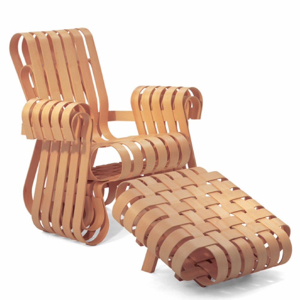 Gehry Power Play Club Chair and Ottoman by Frank Gehry for Knoll