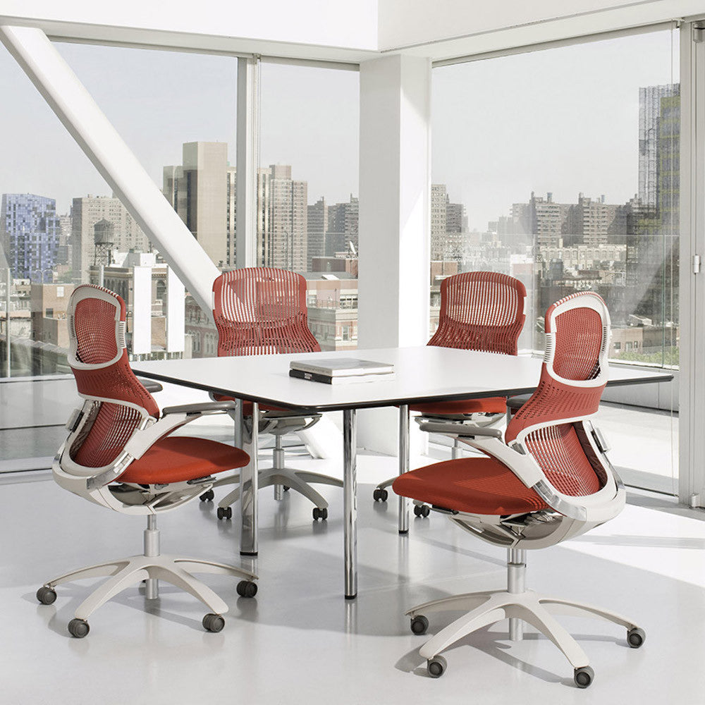 knoll generation office chair  modern furniture  palette  parlor - generation by knoll office chairs in conference room
