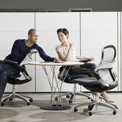 Generation by Knoll Office Chairs in Conference Room with Noguchi Cyclone Table