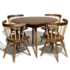 Knoll Jens Risom Dining Table with Nakashima Straight Chairs