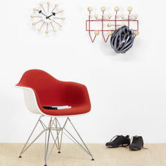 George Nelson Ball Clock Natural Wood Wall Vitra