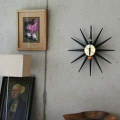 Black George Nelson Sunburst Clock in Room Vitra