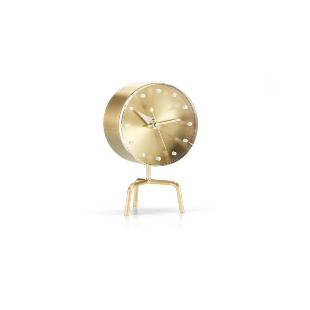George Nelson Tripod Clock Brass