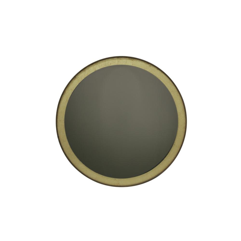 Ethnicraft Gold Leaf Round Wall Mirror