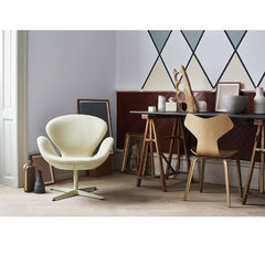 Grand Prix Chair in Room with Swan Chair Arne Jacobsen Fritz Hansen