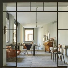 Grand Prix Chairs in Home Office Arne Jacobsen Fritz Hansen
