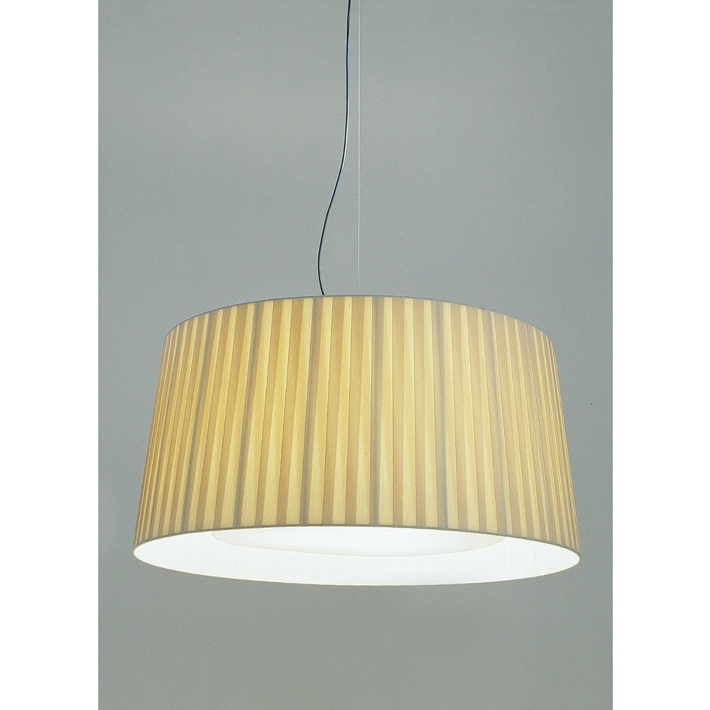 GT7 Suspension Lamp with Natural Ribbon Shade from Santa & Cole