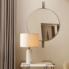 GUBI IOI Mirror by Gam Fratesi with Gravity Table Lamp