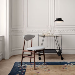 GUBI Mategot Trolley with Gent Chair and Collar Pendant Light
