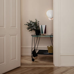GUBI Mategot Trolley with Greta Grossman Cobra Sconce