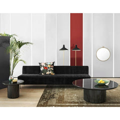 GUBI Modern Line Sofa by Greta Grossman in Room with Randaccio Mirror