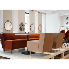 GUBI Modern Line Sofa Dining Height Styled by Greta Grossman