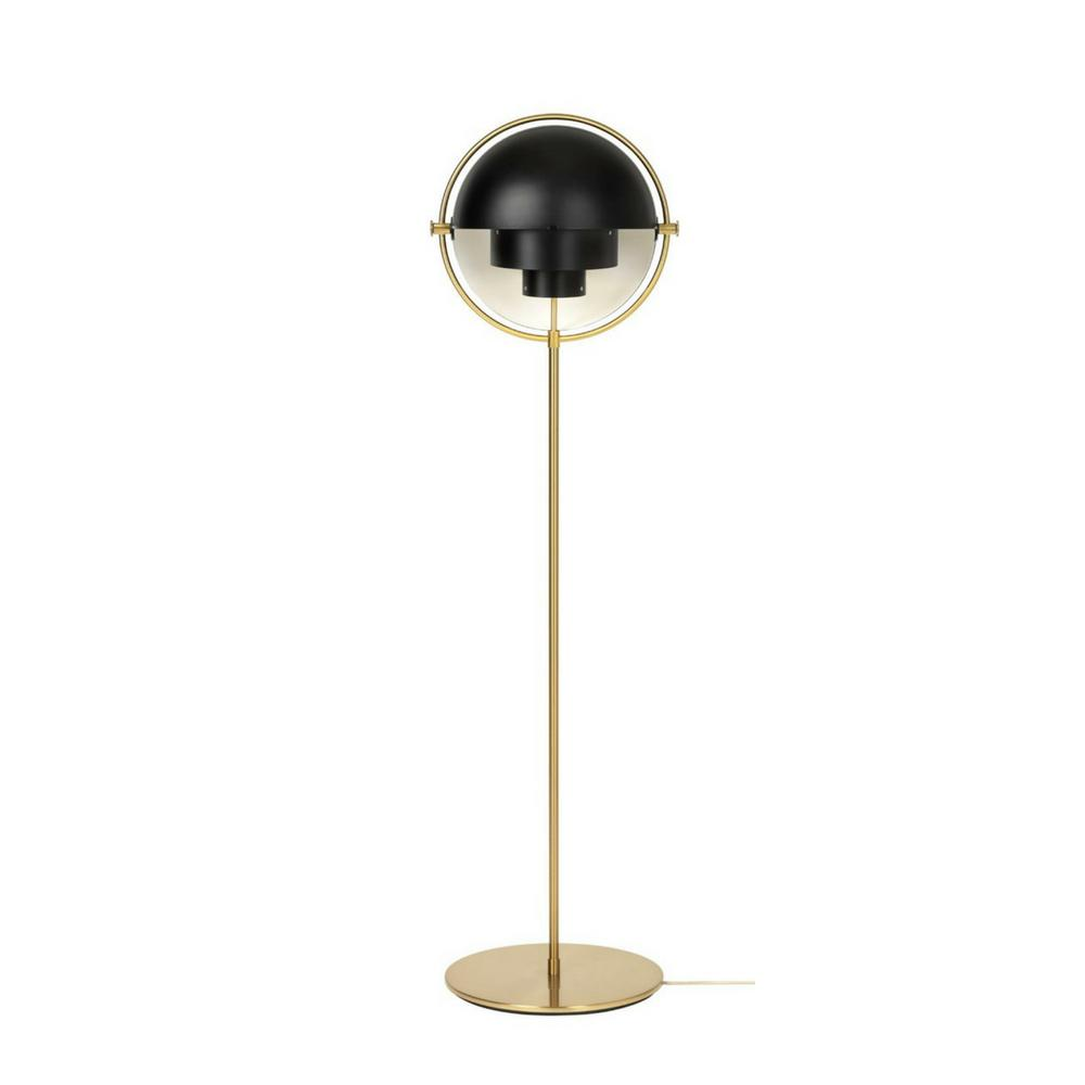 GUBI Multi Lite Floor Lamp Black and Brass