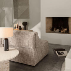 GUBI Wonder Sofa by Space Copenhagen in situ with Epic coffee table and Gravity table lamp