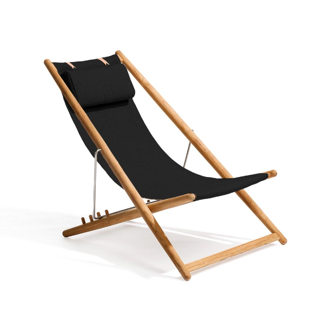 Skargaarden H55 Lounge Chair Teak with Black Sunbrella