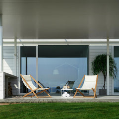 White H-55 Lounge Chairs by Skargaarden