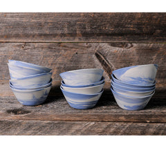 Haand Cloudware Bowls Stacked on Board